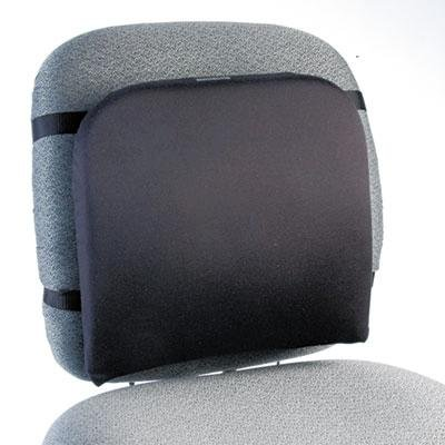 Kensington Memory Foam Backrest, 16W X 12D X 16H, Black, 3 CT