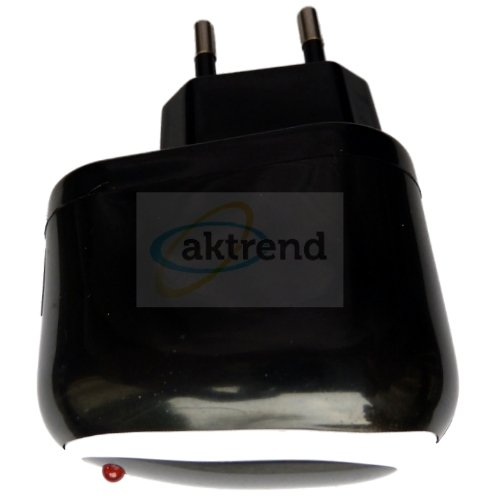 aktrend - Universal Power Adapter USB Netzteil Ladeadapter Stromadapter Netzadapter - (Schwarz oder Schwarz / Weiss) (5V / 1000mAh) passend Universal für Apple iphone5 iPhone 3G 3GS 4 5 iPod Touch 1G Touch 2G Touch 3G iPod 1G iPod 2G iPod 3G iPod 4G iPod 5G iPod classic iPod Nano 1G Nano 2G Nano 3G Nano 4G Nano 5G iPod Mini 1G Mini 2G 1000mAh 1A Netzteil Reiseladegerät AC POWER Adapter Netzladegerät Netzadapter Haus Steckdose LG P760 Optimus L9 E400 L3 Nokia wie AC-10e DC-6 Lumia Samsung Galaxy
