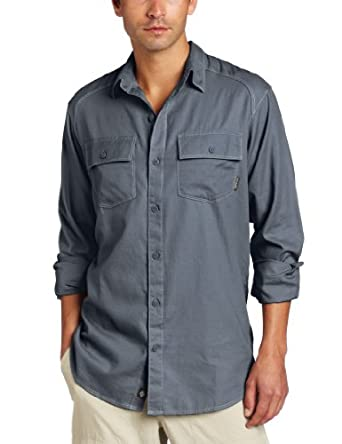 Columbia Men's Summit Watch Long Sleeve Solid Shirt, Mystery, Small