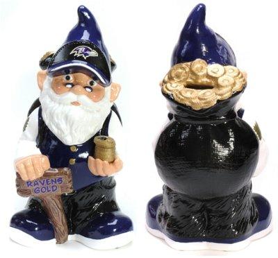 Baltimore Ravens Garden Gnome - Coin Bank