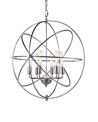 Urban Lights Vienna 6-Light Pendant Lamp, Polished Nickel