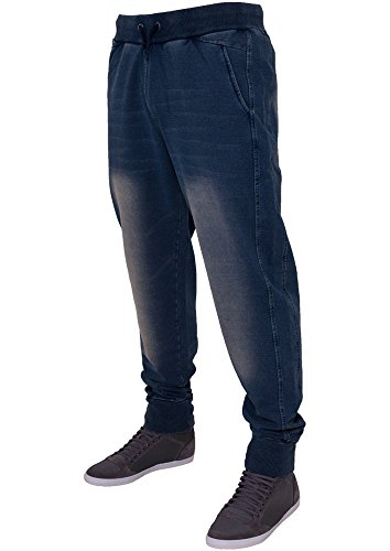 Urban Classics TB483 Denim Sweatpant Pantalone Tuta effetto Jeans Regular Fit