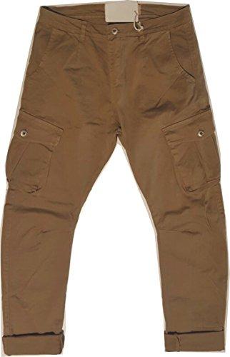 Pantalone Uomo con tasche su gamba (50, beige)