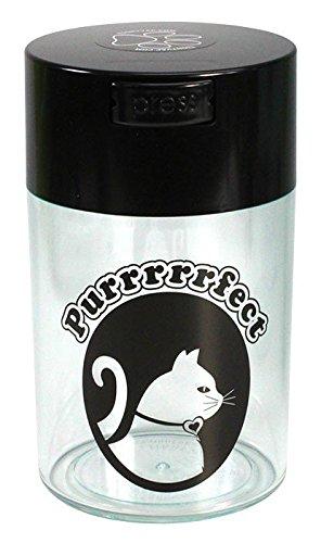pawvac-6-ounce-vacuum-sealed-pet-food-storage-container-black-cap-clear-body-black-cat
