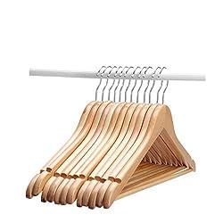 AADYA BEST WOODEN CLOTHES HANGER( SET OF 24 )