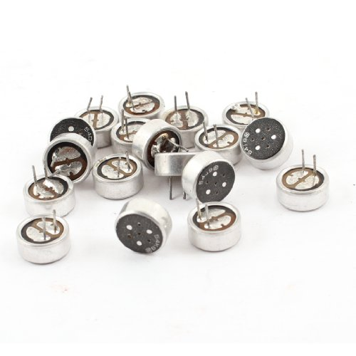 18 Pcs 2 Pins Electret Condenser Mic Capsule Repair Parts For Pc Phone Mp3 Mp4