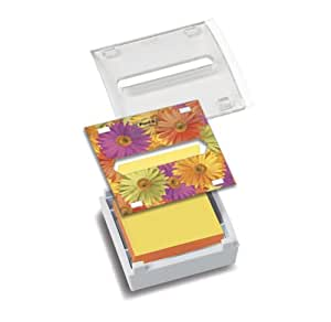 Post-it® Notes Dispenser, Pop-up Refill, 3 Inches x 3 Inches,  White with Clear Top and Dispenser Insert, Includes One Pop-up Refill