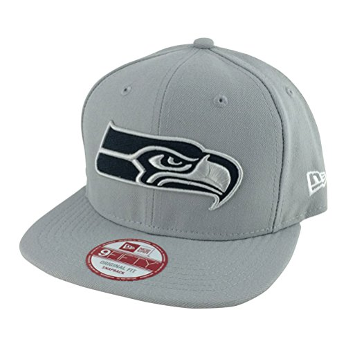 New Era Og Fits Seattle Seahawks Grey Tone Black Snapback Hat Cap (Custom Seahawks Hat compare prices)