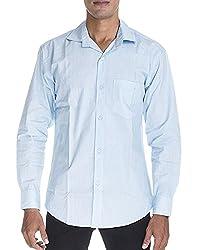 Venga Men's Button Front Shirt (RF001, Blue, XXL)