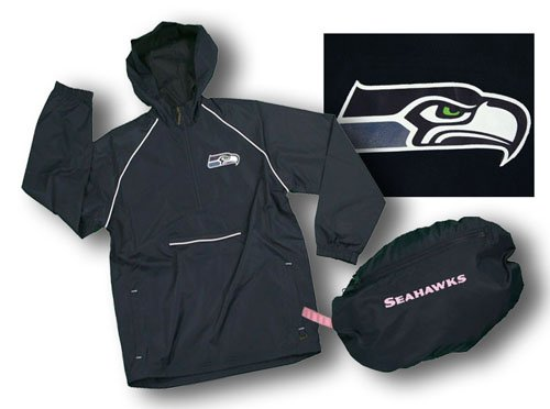 lowest price cd5b7 2e19b Rain Jacket: Seattle Seahawks NFL Women's Pack-It ...