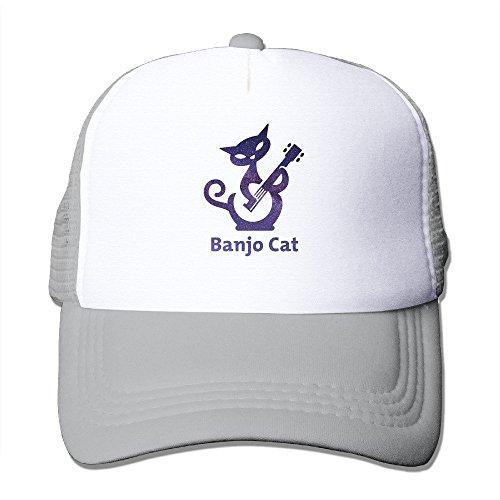SAXON13 Unisex Baseball-caps Mesh Back Banjo Cat Hat Cpas Ash (Wall Fan Dyson compare prices)