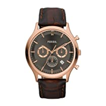 Fossil Ansel Chronograph Rose Gold Ion-plated Mens Watch FS4639