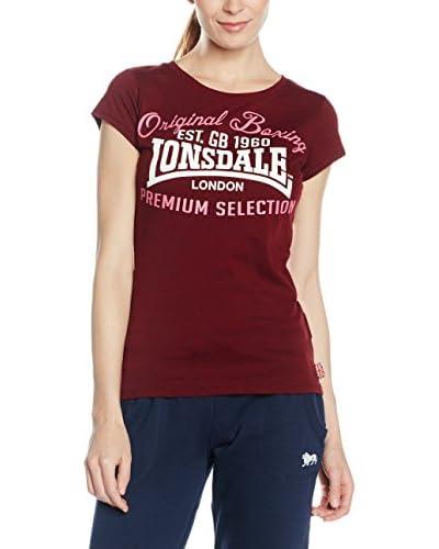 Lonsdale Camiseta Manga Corta Amble Burgundy