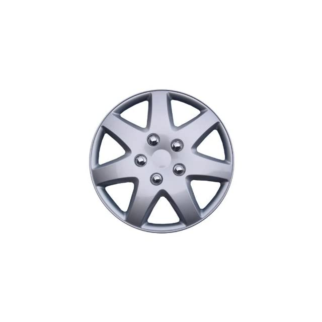 SET of 4 Hubcaps Wheel Covers KT962 16S/L 16 Silver Finish