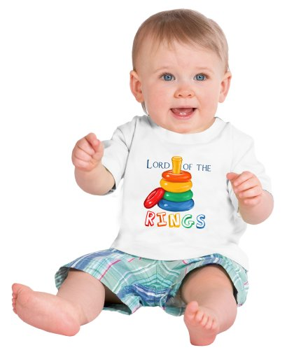 LORD OF THE [STACKING] RINGS Short Sleeve Baby T-shirt / Cute, Funny Infant Humor