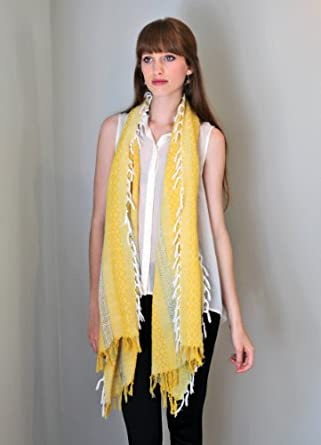 Women's Tahiti Sunshine Yellow Cotton Fashion Scarf