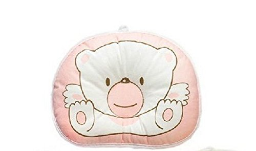 New Arrival Anti-Roll Pillow Flat Head Sleeping Positioner Bear For Boy Girl Newborn Baby Pink Color