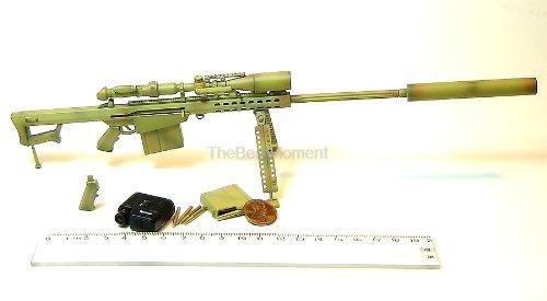 "M82A1 #15 BARRETT USMC IRAQ DESERT SNIPER RIFLE GUN 1:6 Scale Model For 12"" Action Figure Accessories (Original from The Best Moment @ Amazon)"