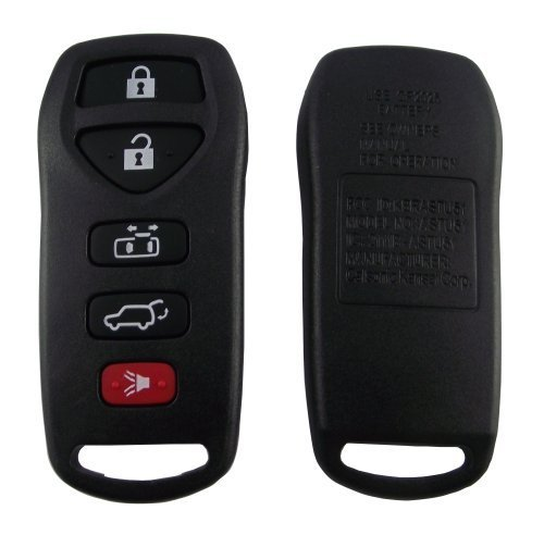 keyless-entry-key-remote-case-shell-with-pad-repair-for-nissan-quest-5-button-blackjust-a-empty-key-