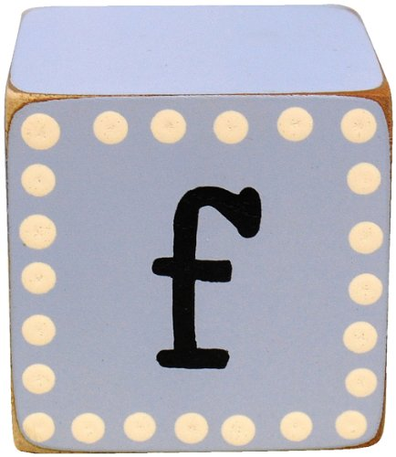 New Arrivals Letter Block F, Blue/White