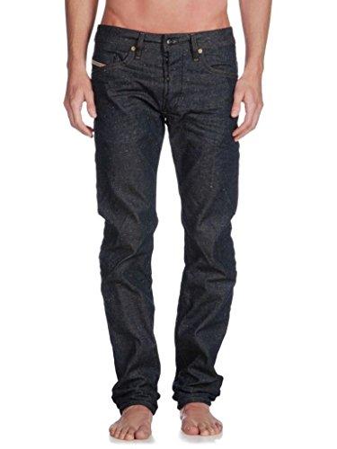 Mens Diesel Braddom 0820N Solid Wash Skinny Slim Carrot Leg Speckled Crinkle Jeans - Size 29Wx32L