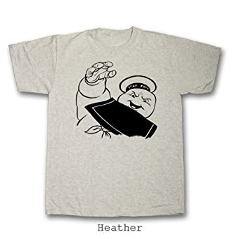 Marshamallow Man Ghostbusters T-Shirt (Small - 4XL) 100% Cotton (4XL, Heather)
