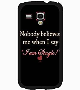 ColourCraft Quote Design Back Case Cover for SAMSUNG GALAXY S3 MINI I8190