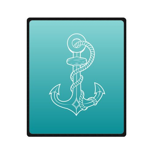 Personalized Fashion Nautical Anchor Logo Picture Fleece Blanket 50 X 60 front-1077631