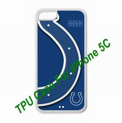 Fitted iPhone 5C TPU lovers Cases NFL Indianapolis Colts logo covers for a Christmas gift by hiphonecases at Amazon.com