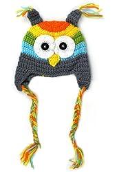 ZPS Hot Sale 0-18m Newborn Baby Infant Toddler Knit Crochet Photo Prop Costume Owl Hat (grey)