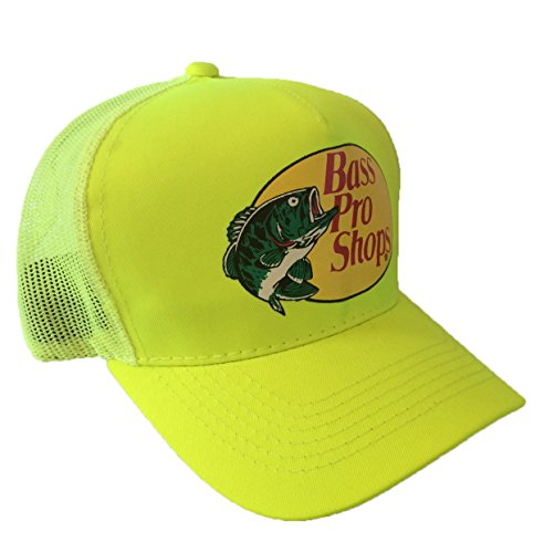 Authentic Bass Pro Mesh Fishing Hat - Neon Yellow, Adjustable, One Size Fits Most (Bass Pro Shops Cap compare prices)