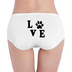 Sophie Warner Love My Dog Basic Women Lady Girl Costumes Mini Shorts Panties Hipster Knickers Set Cotton