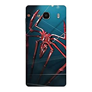 Gorgeous Climbing Spider Multicolor Back Case Cover for Redmi 2