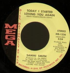 "TODAY I STARTED LOVING YOU AGAIN 7"" (45) US MEGA 1975 B/W FINE AS WINE (MR1236)"