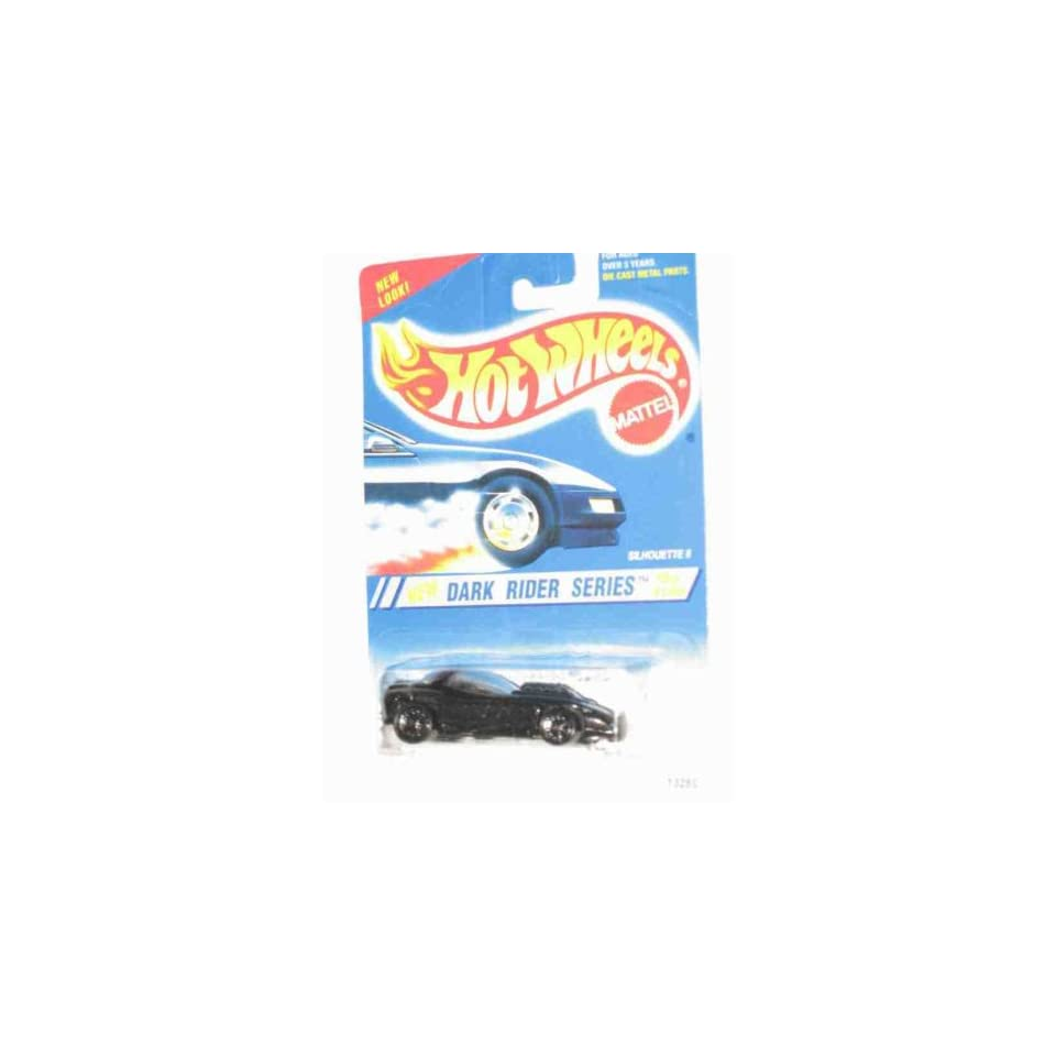 Dark Rider Series #3 Silhouette 2 6 Spoke Wheels Black base #299 Collectible Collector Car Mattel Hot Wheels
