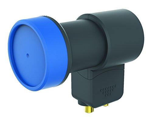 OPTICUM BLUE LTP-04H V2 twin LNB für zwei Teilnehmer (Waßer/Frost/UV-Resistent, 40mm Feedhals, FullHD/4k HD/3D ready) schwarz
