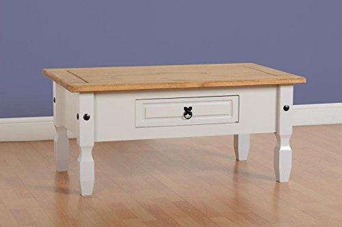 Corona–Tavolino da caffè in pino a grigio