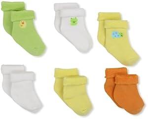 Gerber Unisex-Baby 6 Pack Variety Socks by Gerber