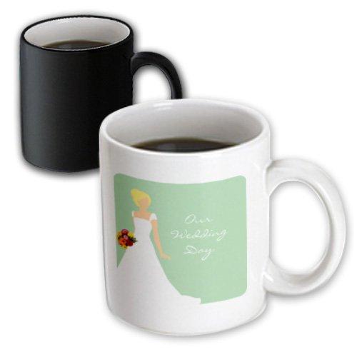 Mug_165860_3 Janna Salak Designs Wedding - Our Wedding Day - Blonde Bride Mint Green - Mugs - 11Oz Magic Transforming Mug