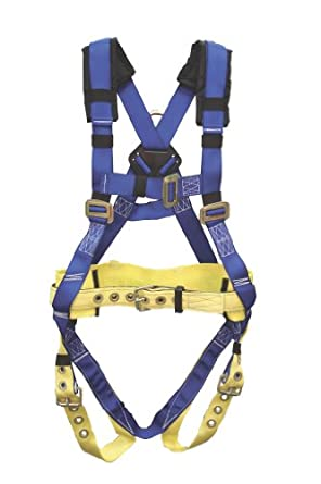 Elk River 75100 WorkMaster Polyester/Nylon 1 D Ring Harness with Tongue Buckles, X-Small