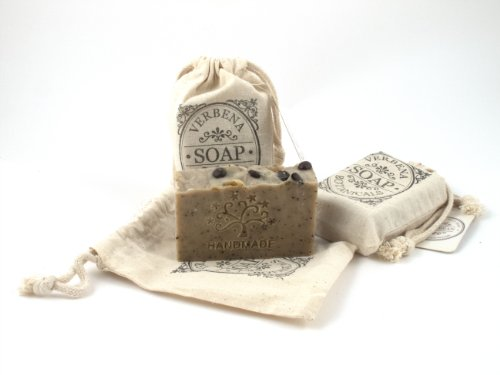 Handmade Organic Goat Milk Oil And Herb Soap Coffee Bean 3 Bars 4 Oz Each