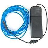 サインソニック(SainSonic)2.7メートル 光るカラーモール 有機ELネオンワイヤー 点灯・点滅機能付!(ブルー)