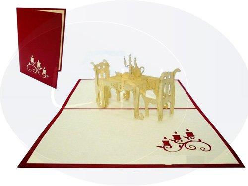 pop up 3d karte dinner einladung gutschein gourmet essensgutscheine rot 126. Black Bedroom Furniture Sets. Home Design Ideas