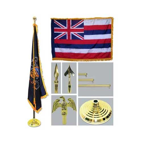 Hawaii 4Ft X 6Ft Flag Telescoping Flagpole Base And Tassel