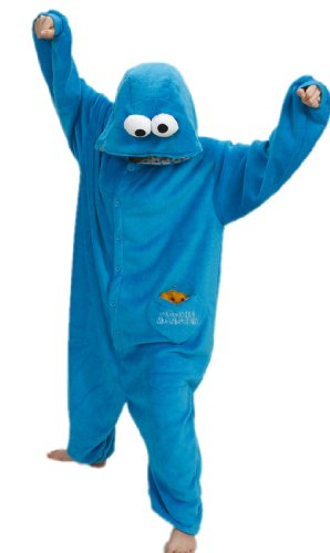 Superlieu Cookie Monster Kigurumi Pajamas Anime Costume