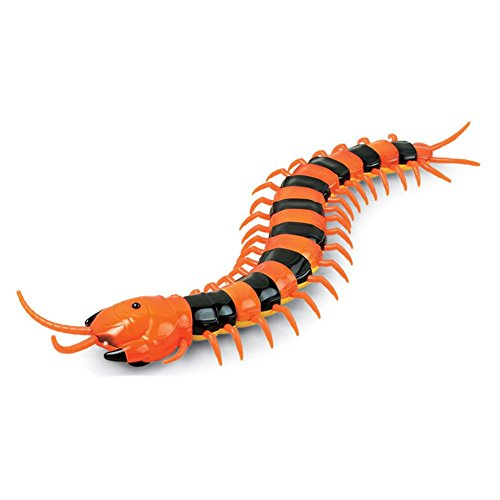 Infrared Remote Control USB RC Centipede Scolopendra Creepy-crawly Toy For Kids Play (Variegated)