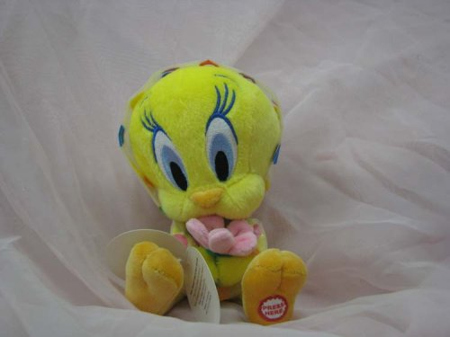 Hallmark ERG7048 Spring Tweety Plush with Sound holding Flower