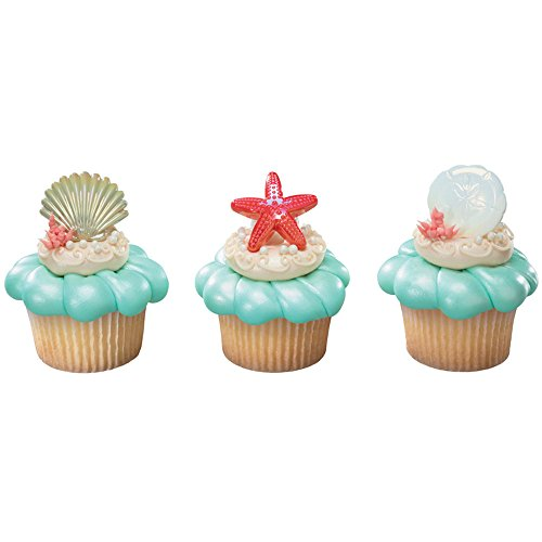 DecoPac Sea Shell Cupcake Rings (12 Count) - 1