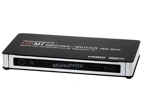 Monoprice 4X4 True Matrix HDMI Powered Switch w/ Remote (Rev. 3.0)
