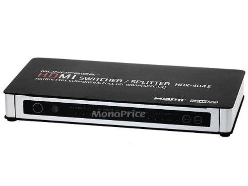 Monoprice 4X4 True Matrix HDMI Powered Switch w/ Remote (Rev. 3.0)